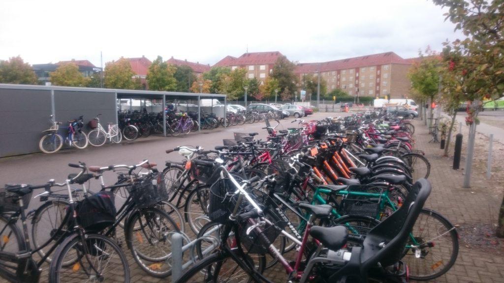 Bike parking in Copenhagen